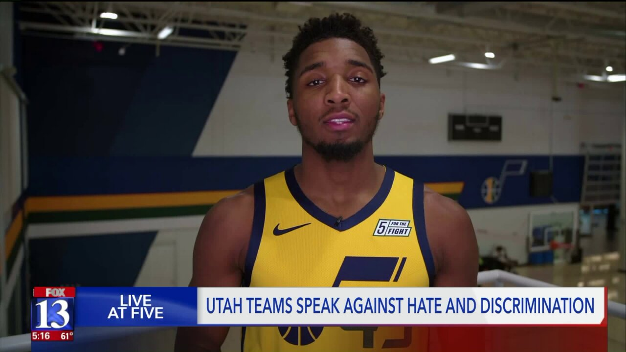 Jazz and other Utah sports teams unite for Lead Together initiative against racism, hatespeech