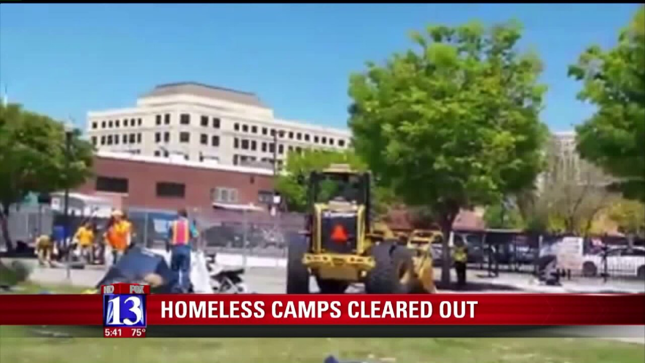 Homeless camp near Rio Grande clearedout