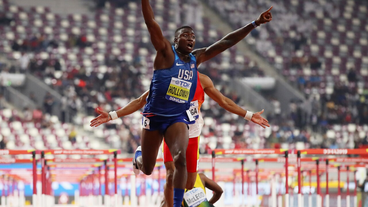 VIDEO: Chesapeake's Grant Holloway wins World Championship in 110m hurdles