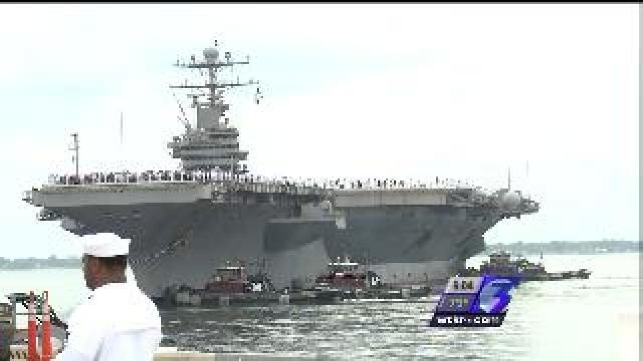USS Abraham Lincoln arrives in Norfolk