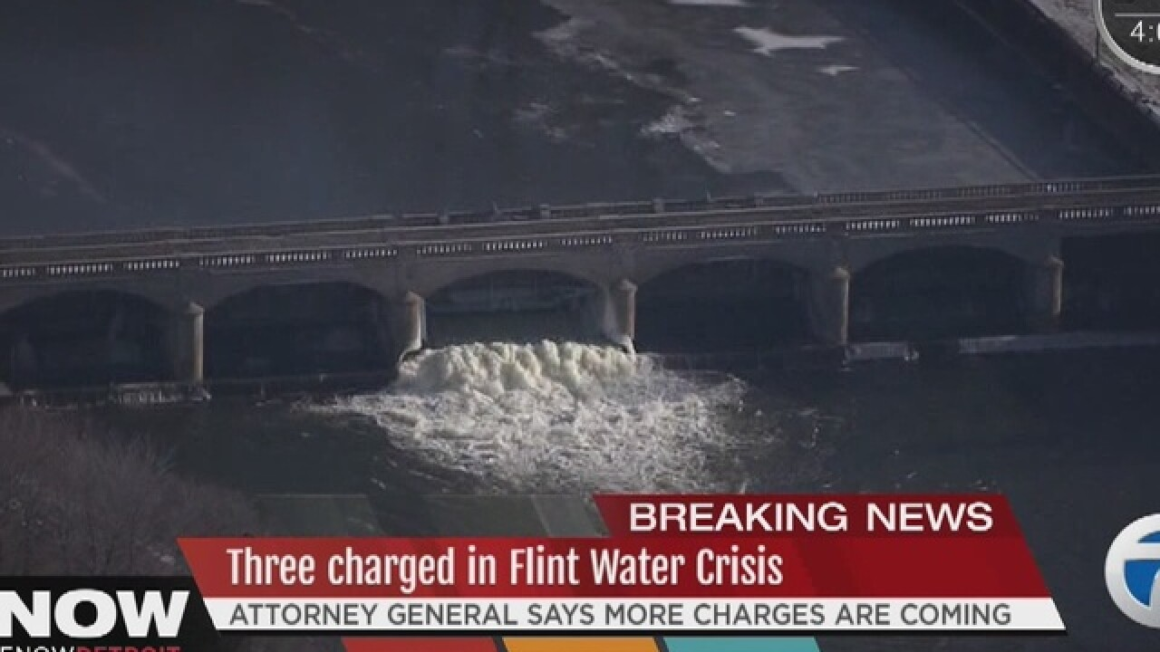 Three charged in Flint water crisis