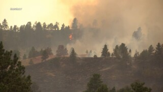 Falling Star Fire 80 percent contained on Monday evening