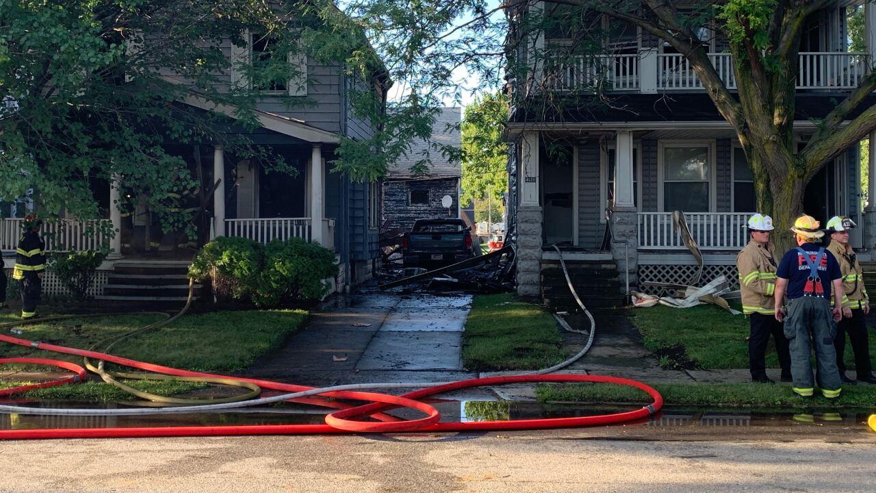 Three houses catch fire in Newburgh Heights neighborhood