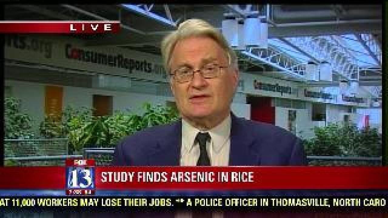 Report: 'Worrisome' levels of arsenic in rice