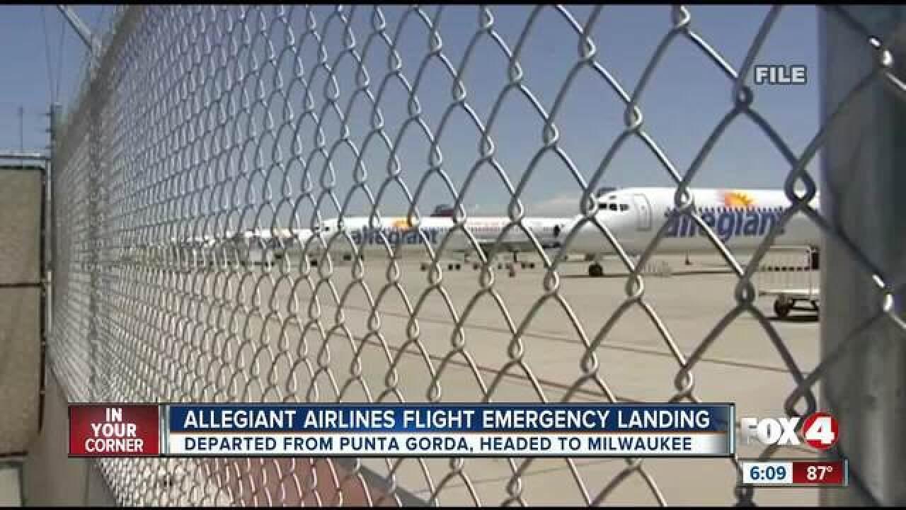 Flight from Punta Gorda makes emergency landing