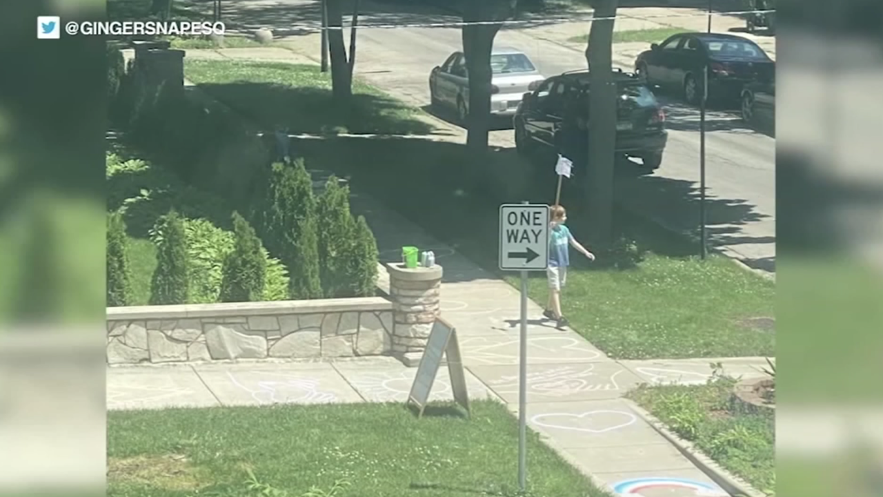 9-year-old boy holds his own Black Lives Matter protest outside his home