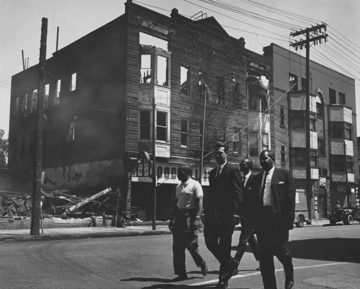 Hough Riots, 1966-Damaged Building Next to Demolished Corner.jpg
