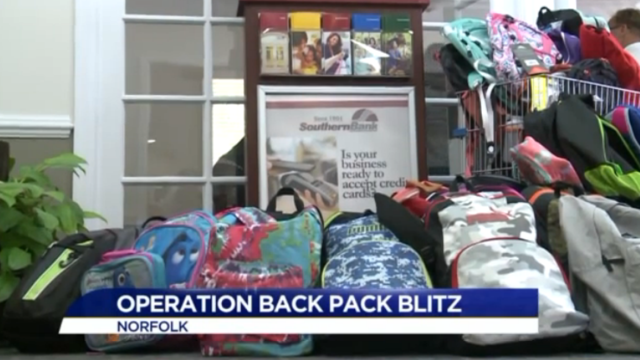 Southern Bank helps ForKids send kids to school with a backpack full ofsupplies
