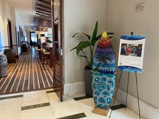 Palm Beach Marriott Singer Island Beach Resort and Spa - The Arc mosaic surfboard on display.jpeg
