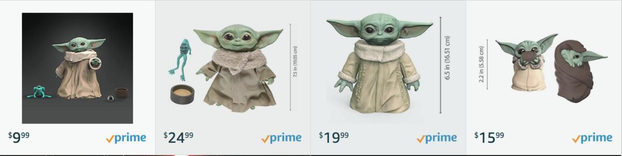 The Child Amazon figurines