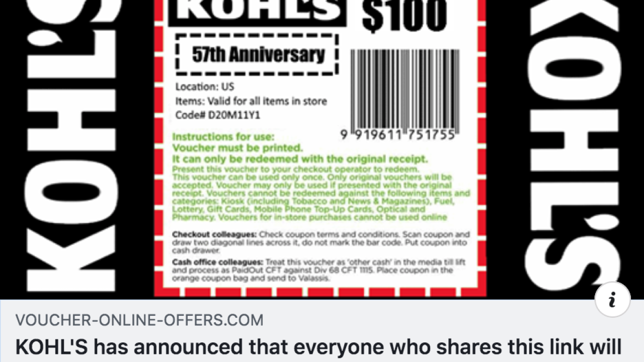 The Kohl's coupon scam you should know about
