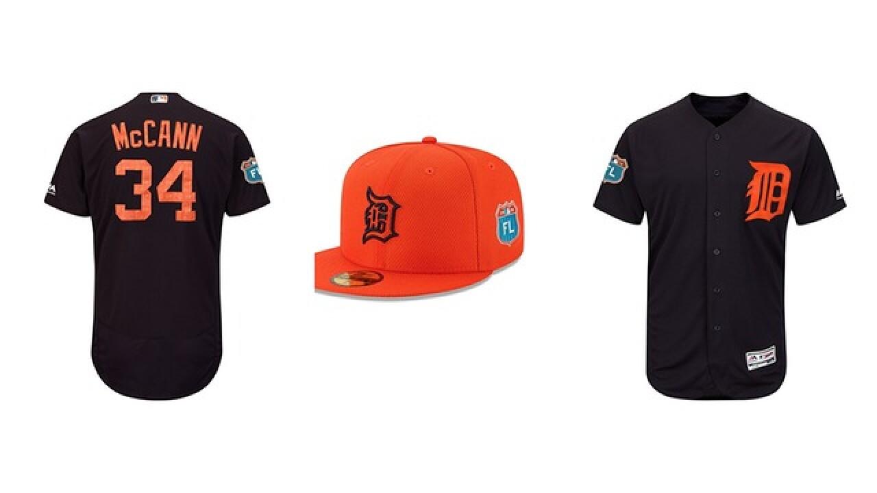 Tigers unveil new spring training uniforms