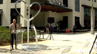 Heart-shaped sculpture unveiled at Boynton Beach City Hall March 2, 2021