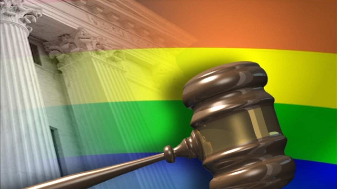 gay lgbt flag gavel