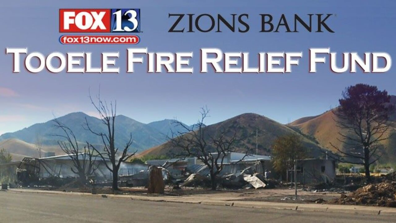 Donate to the Tooele Fire Relief Fund