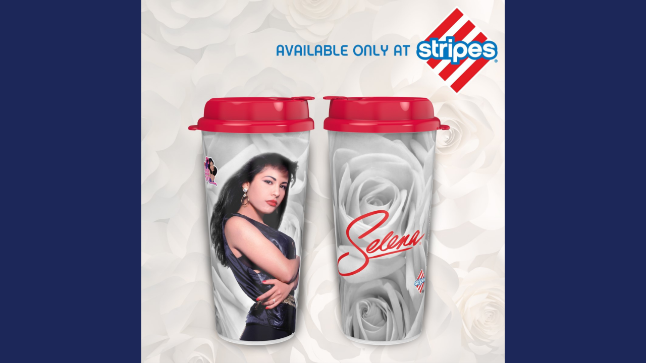 Selena Rose stripes cup