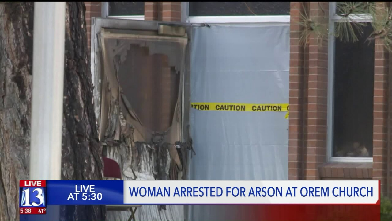 Woman arrested for burglary, arson after fire in Latter-day Saint chapel in Orem