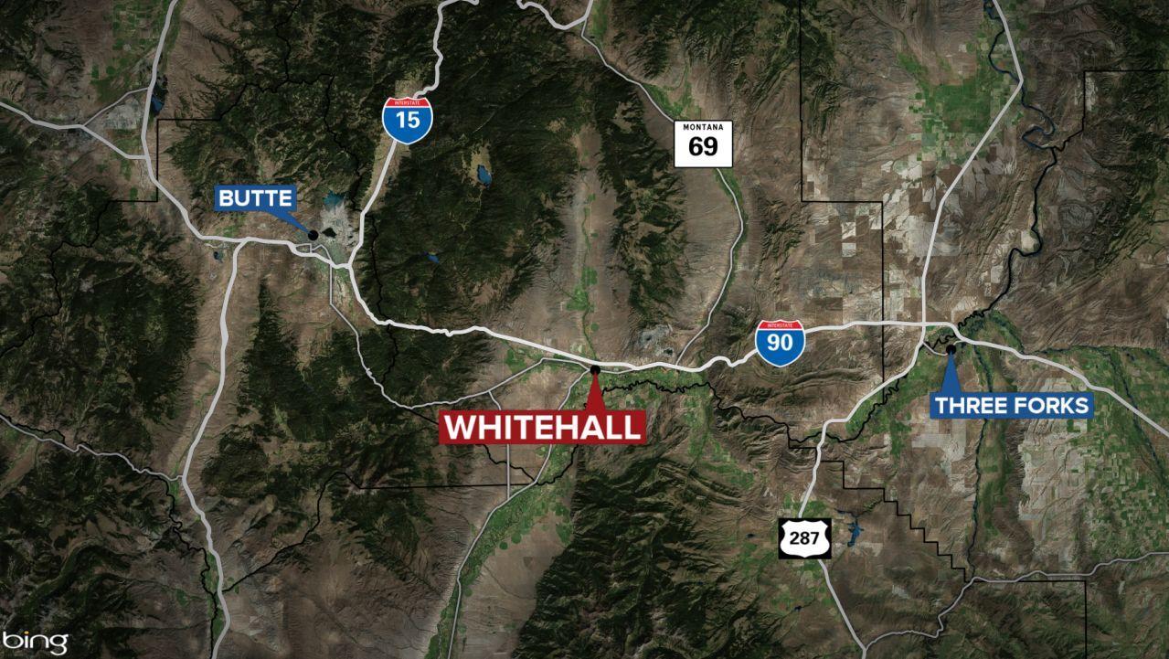 Whitehall Montana map
