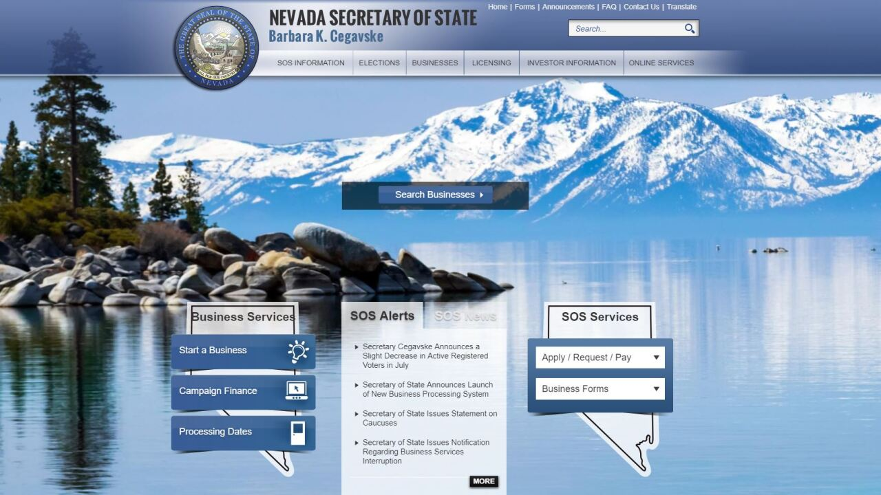 The Nevada Secretary of State office recently switched to a new processing program for business paperwork but it's lead to a backup for many businesses to get crucial documents