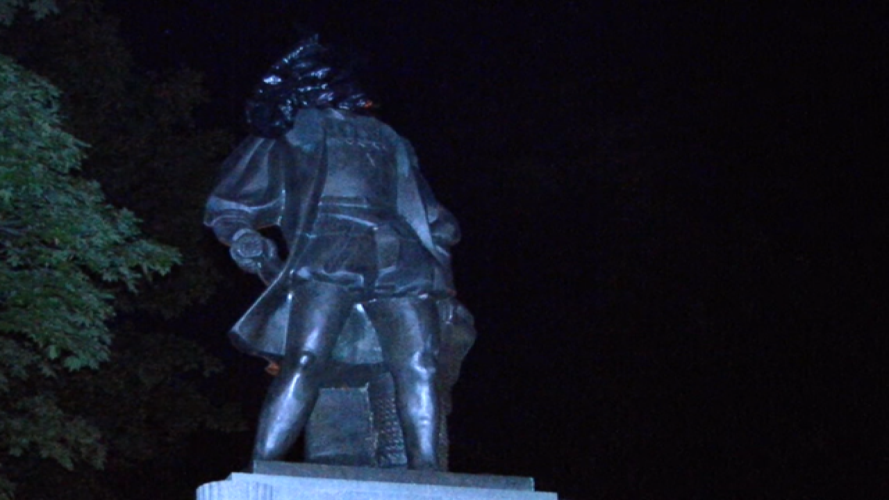 Columbus statue vandalized in Prospect Park