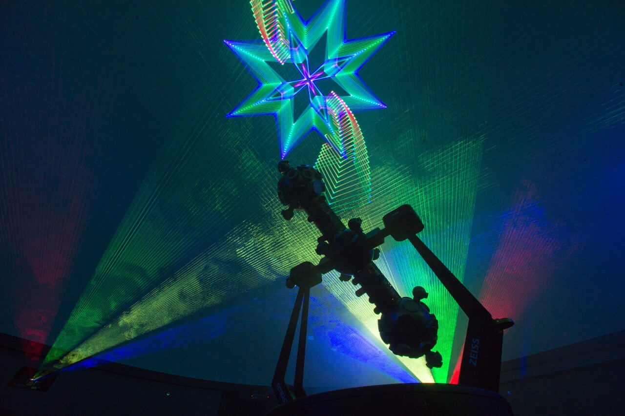 Laser and music shows will be featured at the planetarium.