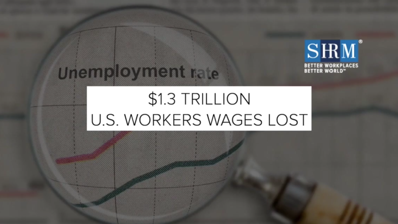 Estimated $1.3 trillion to be lost by American workers amid pandemic
