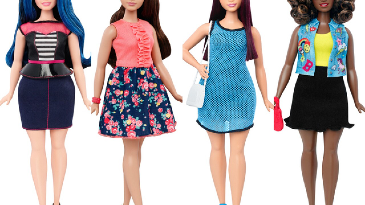 Barbie adds 'curvy' body type to new doll line