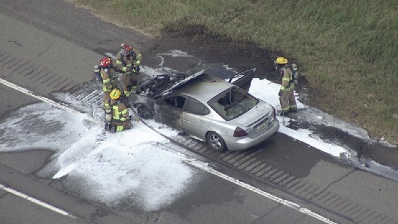Car fire causes major traffic issues on northbound I-75