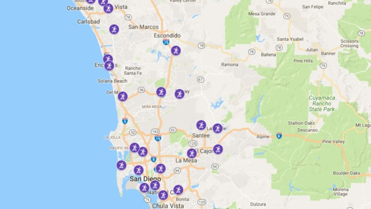 Map: Where to find a skate park in San Diego County