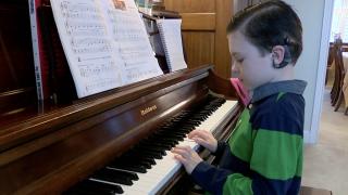 Jack Westerman playing piano