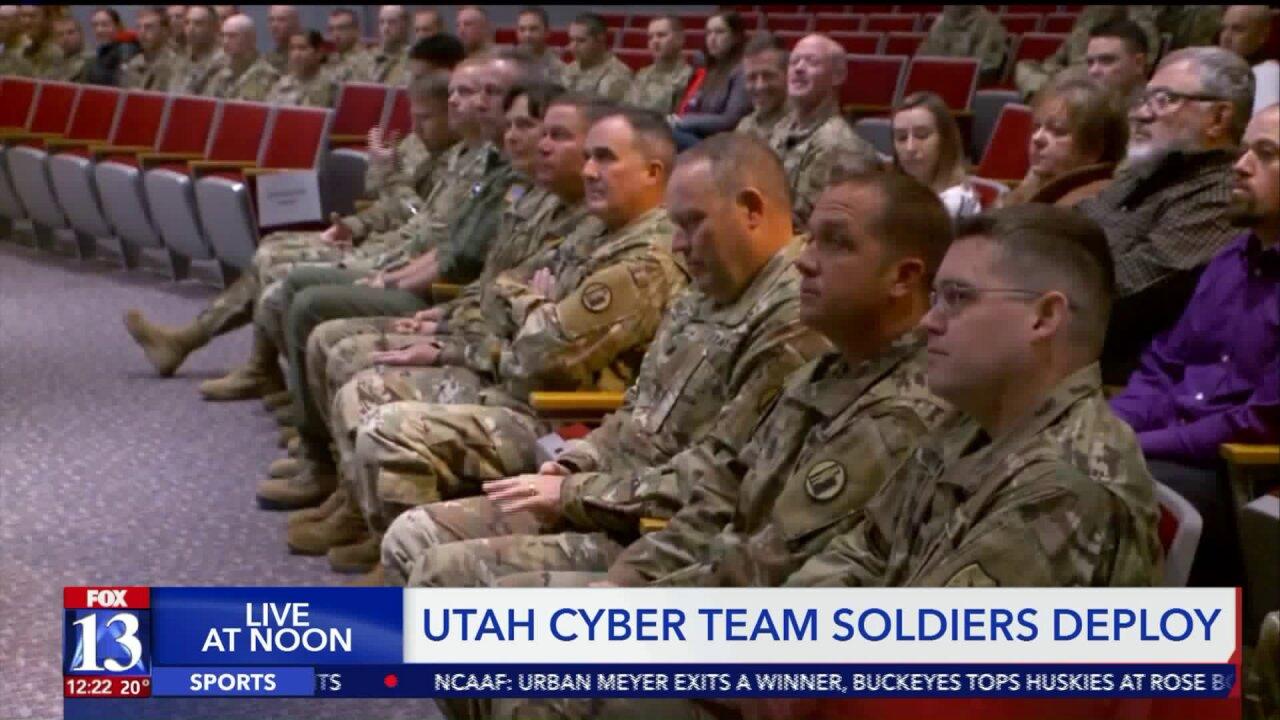 Members of Utah National Guard with cyber training deploy toMaryland