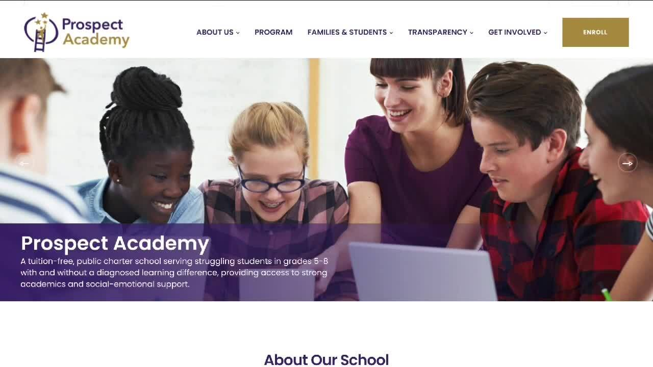 Prospect Academy is opening for grades 5-8 in the fall of 2022. The school will focus on students with learning differences.