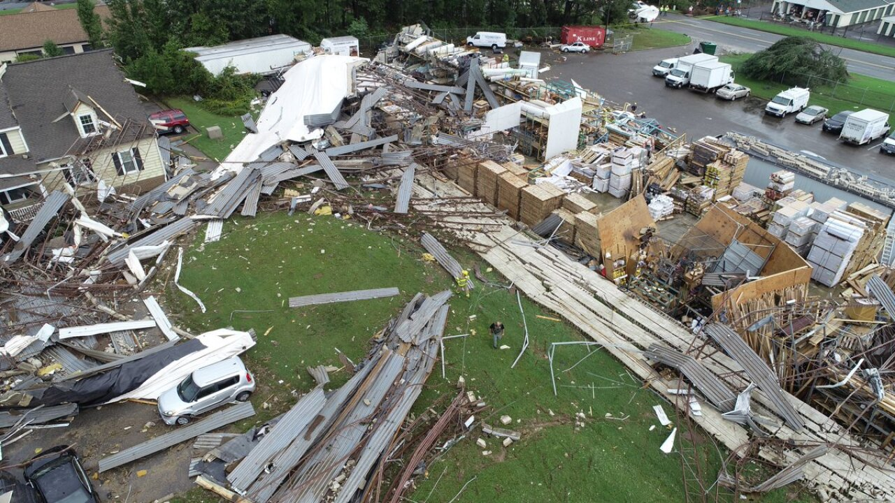1 dead after tornado destroys Chesterfield building near Hull Street