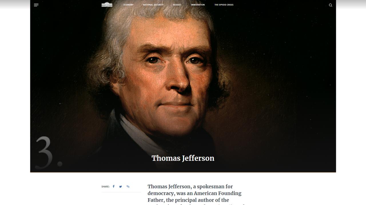 Thomas Jefferson thesis example stirs controversy