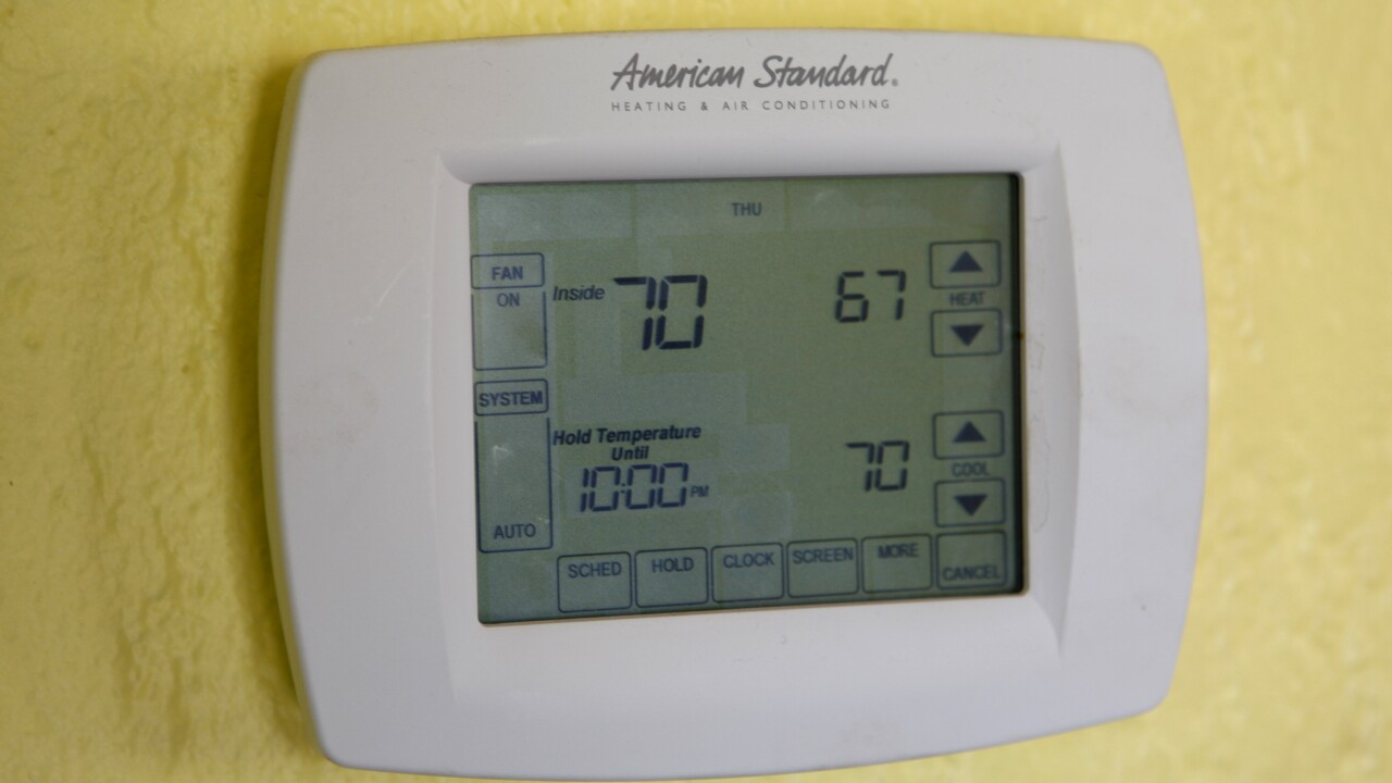 Heating/cooling system installation; visit with Hannah Keeley