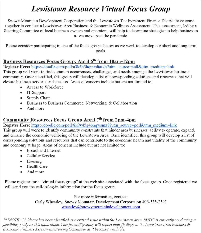 Lewistown Area Business & Economic Wellness Assessment