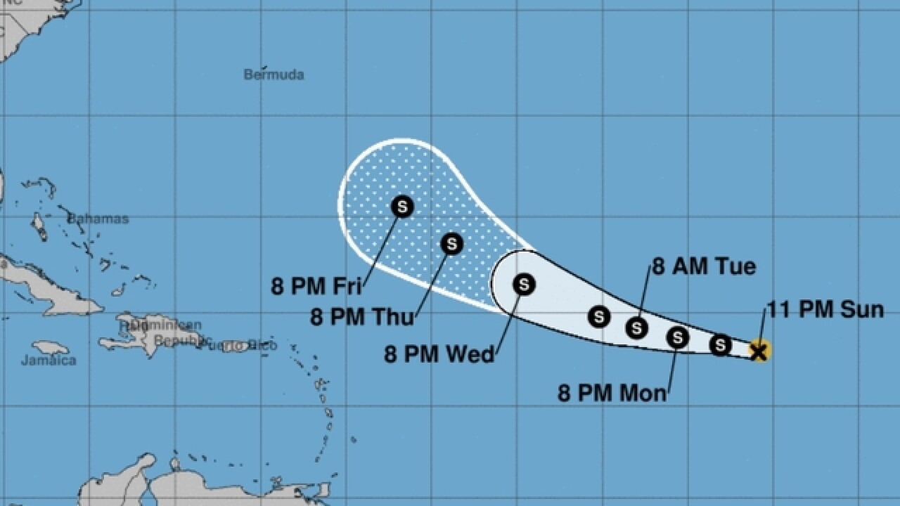 Tropical Depression Six forms in the Atlantic