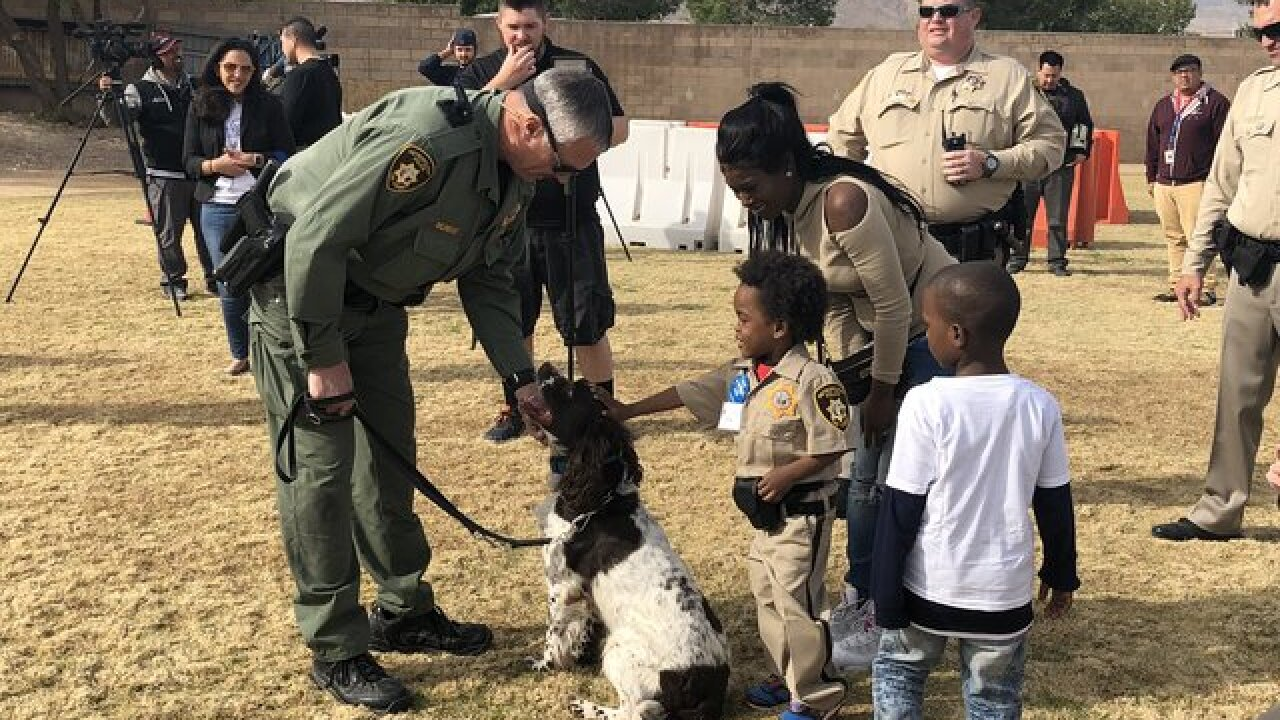 4-year-old boy gets to be part of LVMPD for day