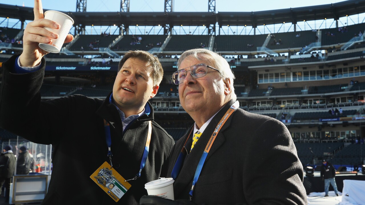 Jason Botterill and Terry Pegula make the trip to New York City for Winter Classic