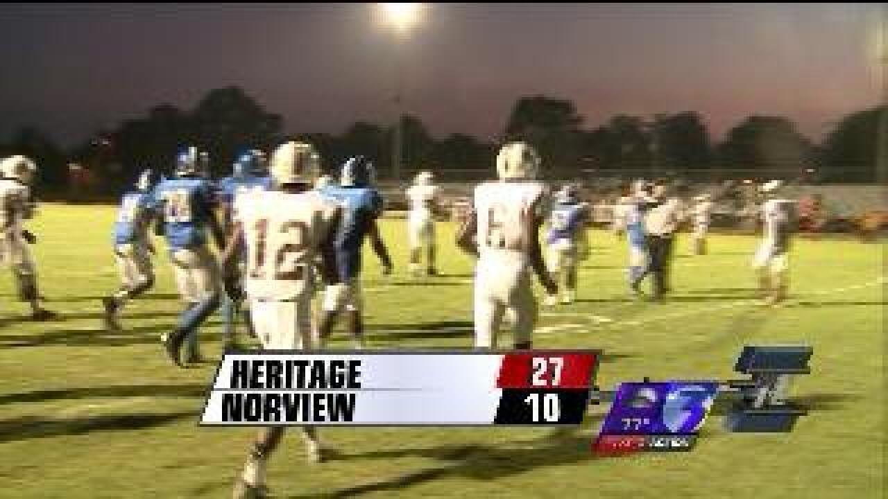 Heritage tops Norview 27-10