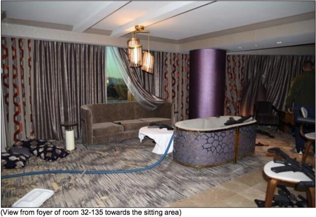 Las Vegas shooting: Photos show inside Stephen Paddock's suite at Mandalay Bay