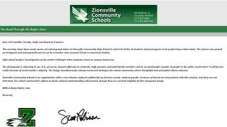 Zionsville Nazi Salute.JPG