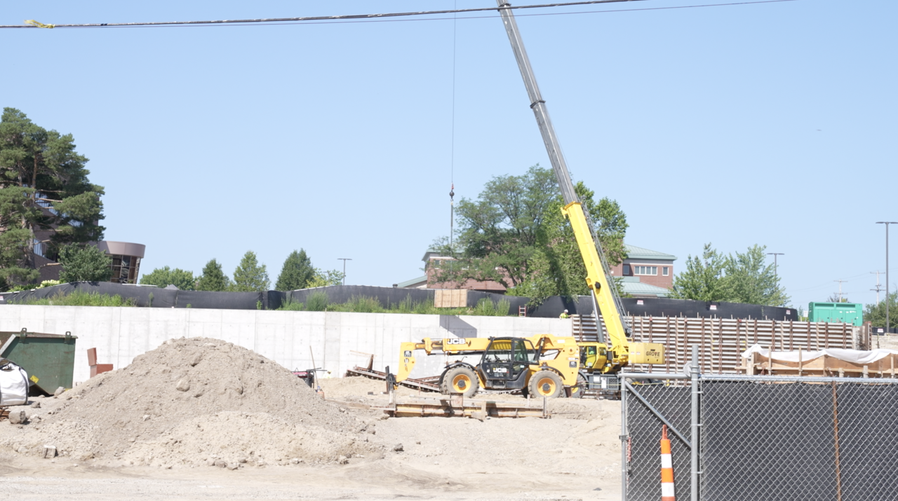 Construction on the new LCC Gannon parking ramp continues