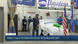 Military veteran in Great Falls gets a new car