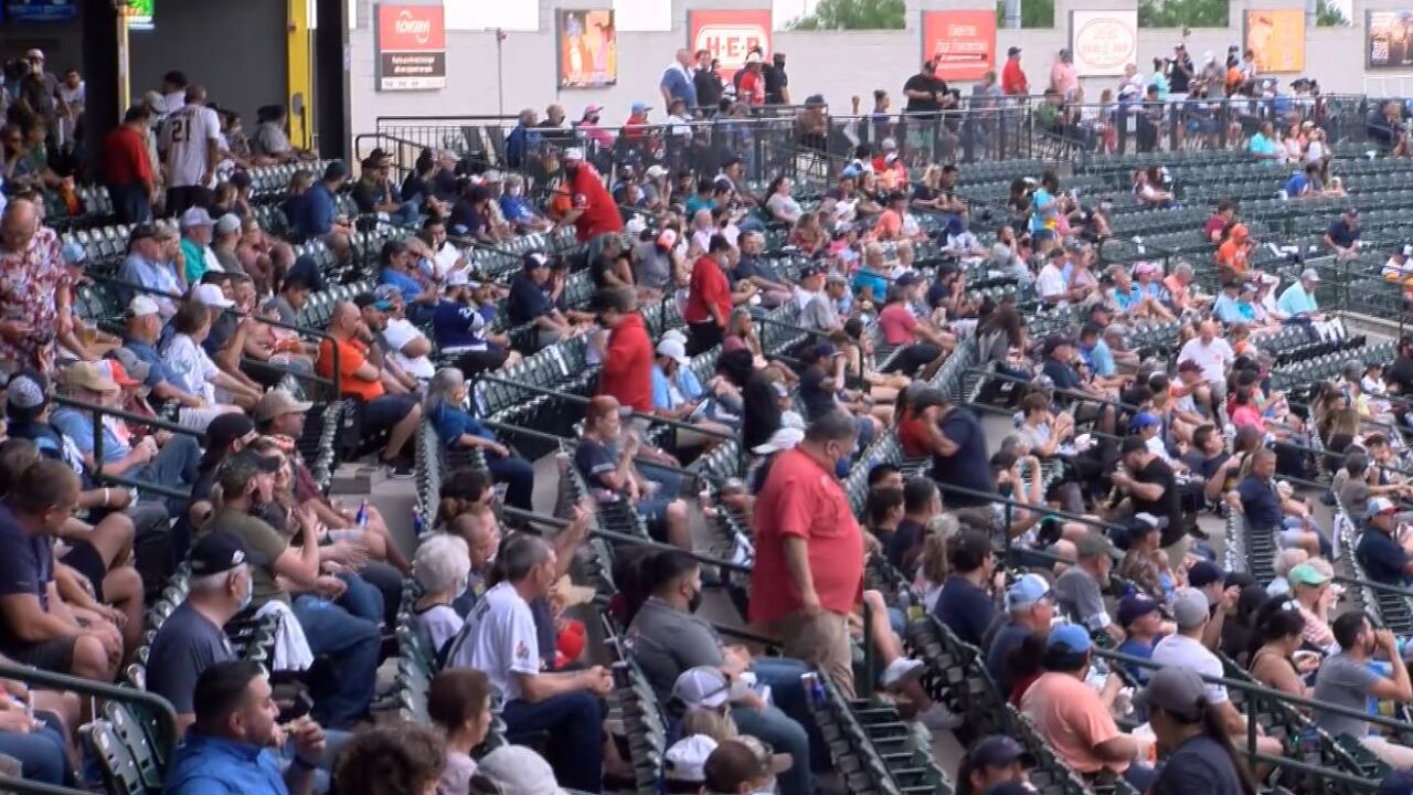 Baseball fans over at Whataburger Field