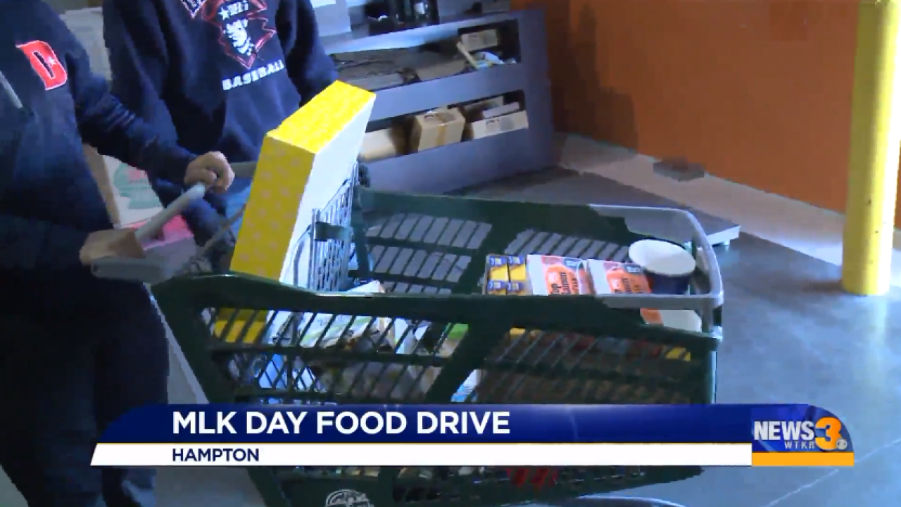 Foodbank honoring Martin Luther King Jr. Day with annual food drive in Hampton