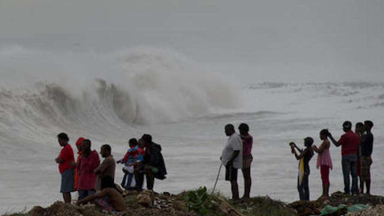 Hurricane Matthew drenches Haiti