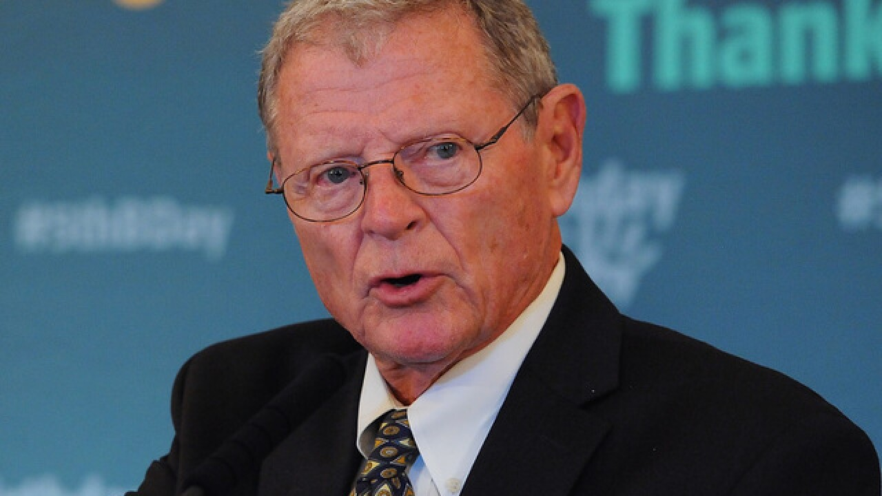 Sen. Jim Inhofe will replace John McCain as chairman of Senate Armed Services Committee