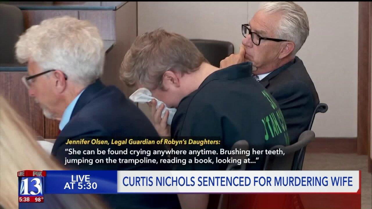 Utah man who strangled wife given 2 to 45years