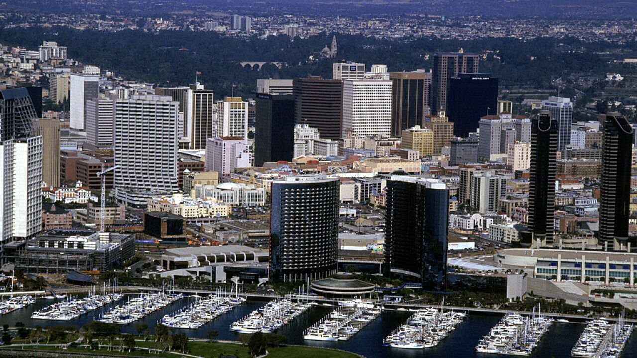 General view of downtown San Diego